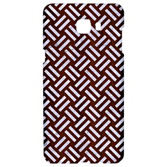 Woven2 White Marble & Reddish Brown Wood Samsung C9 Pro Hardshell Case  by trendistuff