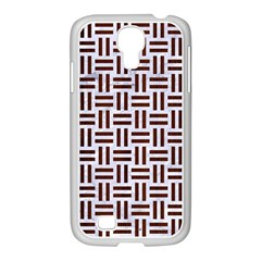 Woven1 White Marble & Reddish Brown Wood (r) Samsung Galaxy S4 I9500/ I9505 Case (white) by trendistuff