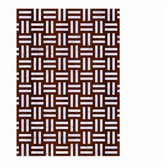 Woven1 White Marble & Reddish Brown Wood Large Garden Flag (two Sides)