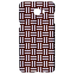 Woven1 White Marble & Reddish Brown Wood Samsung C9 Pro Hardshell Case  by trendistuff