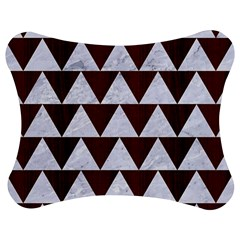 Triangle2 White Marble & Reddish Brown Wood Jigsaw Puzzle Photo Stand (bow) by trendistuff