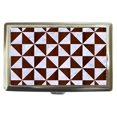 Triangle1 White Marble & Reddish Brown Wood Cigarette Money Cases by trendistuff