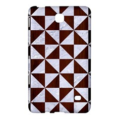 Triangle1 White Marble & Reddish Brown Wood Samsung Galaxy Tab 4 (7 ) Hardshell Case  by trendistuff
