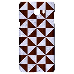 Triangle1 White Marble & Reddish Brown Wood Samsung C9 Pro Hardshell Case  by trendistuff