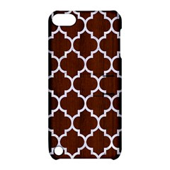 Tile1 White Marble & Reddish Brown Wood Apple Ipod Touch 5 Hardshell Case With Stand by trendistuff