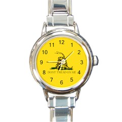 Gadsden Flag Don t Tread On Me Round Italian Charm Watch by MAGA