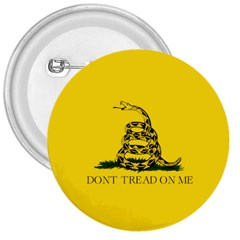 Gadsden Flag Don t Tread On Me 3  Buttons by MAGA