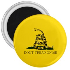 Gadsden Flag Don t Tread On Me 3  Magnets