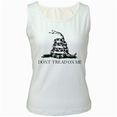 Gadsden Flag Don t Tread On Me Women s White Tank Top