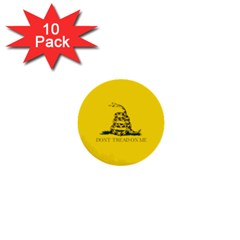 Gadsden Flag Don t Tread On Me 1  Mini Buttons (10 Pack)  by MAGA