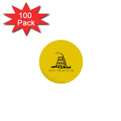 Gadsden Flag Don t Tread On Me 1  Mini Buttons (100 Pack)  by MAGA