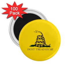 Gadsden Flag Don t Tread On Me 2 25  Magnets (100 Pack)  by MAGA