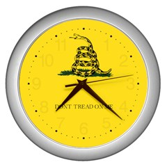 Gadsden Flag Don t Tread On Me Wall Clocks (silver)