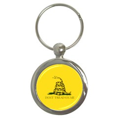 Gadsden Flag Don t Tread On Me Key Chains (round)  by MAGA