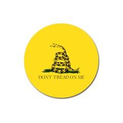 Gadsden Flag Don t Tread On Me Magnet 3  (round) by MAGA