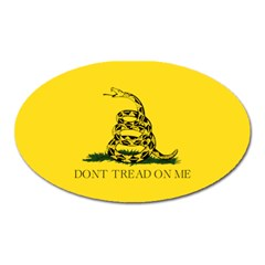 Gadsden Flag Don t Tread On Me Oval Magnet by MAGA
