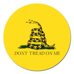 Gadsden Flag Don t Tread On Me Magnet 5  (round) by MAGA