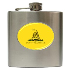 Gadsden Flag Don t Tread On Me Hip Flask (6 Oz) by MAGA