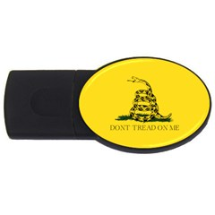 Gadsden Flag Don t Tread On Me Usb Flash Drive Oval (2 Gb)