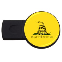 Gadsden Flag Don t Tread On Me Usb Flash Drive Round (4 Gb) by MAGA