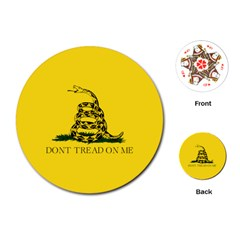 Gadsden Flag Don t Tread On Me Playing Cards (round)  by MAGA