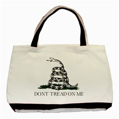 Gadsden Flag Don t Tread On Me Basic Tote Bag by MAGA