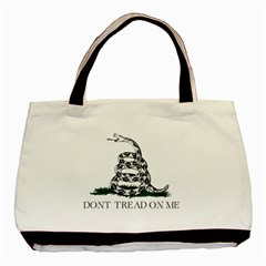 Gadsden Flag Don t Tread On Me Basic Tote Bag (two Sides) by MAGA