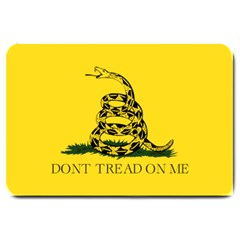 Gadsden Flag Don t Tread On Me Large Doormat  by MAGA