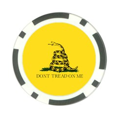 Gadsden Flag Don t Tread On Me Poker Chip Card Guard by MAGA