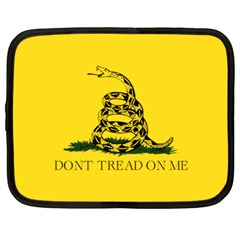 Gadsden Flag Don t Tread On Me Netbook Case (large) by MAGA
