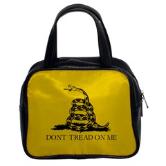 Gadsden Flag Don t Tread On Me Classic Handbags (2 Sides) by MAGA