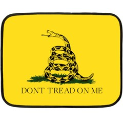 Gadsden Flag Don t Tread On Me Double Sided Fleece Blanket (mini)  by MAGA