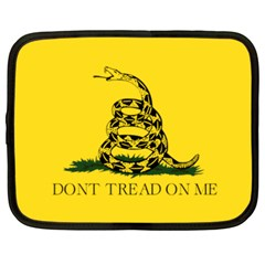 Gadsden Flag Don t Tread On Me Netbook Case (xxl)  by MAGA