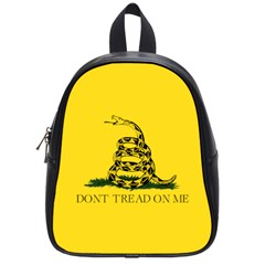 Gadsden Flag Don t Tread On Me School Bag (small) by MAGA