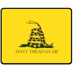 Gadsden Flag Don t Tread On Me Fleece Blanket (medium)  by MAGA