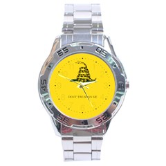 Gadsden Flag Don t Tread On Me Stainless Steel Analogue Watch by MAGA
