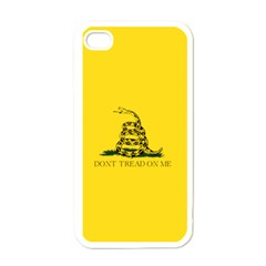 Gadsden Flag Don t Tread On Me Apple Iphone 4 Case (white) by MAGA