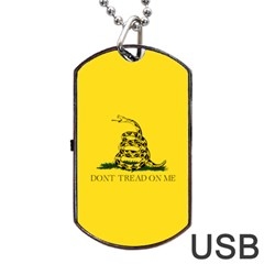 Gadsden Flag Don t Tread On Me Dog Tag Usb Flash (two Sides) by MAGA