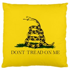 Gadsden Flag Don t Tread On Me Large Cushion Case (two Sides) by MAGA