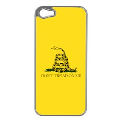 Gadsden Flag Don t Tread On Me Apple Iphone 5 Case (silver) by MAGA