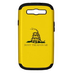 Gadsden Flag Don t Tread On Me Samsung Galaxy S Iii Hardshell Case (pc+silicone) by MAGA
