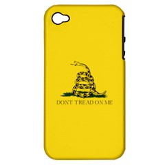 Gadsden Flag Don t Tread On Me Apple Iphone 4/4s Hardshell Case (pc+silicone) by MAGA