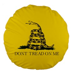 Gadsden Flag Don t Tread On Me Large 18  Premium Round Cushions by MAGA