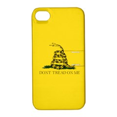 Gadsden Flag Don t Tread On Me Apple Iphone 4/4s Hardshell Case With Stand by MAGA