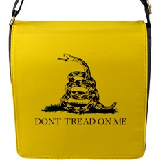 Gadsden Flag Don t Tread On Me Flap Messenger Bag (s) by MAGA