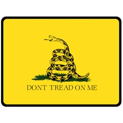 Gadsden Flag Don t Tread On Me Double Sided Fleece Blanket (large)  by MAGA