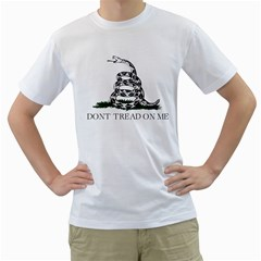 Gadsden Flag Don t Tread On Me Men s T Shirt (white)  by MAGA