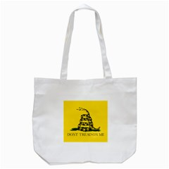 Gadsden Flag Don t Tread On Me Tote Bag (white) by MAGA