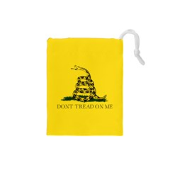 Gadsden Flag Don t Tread On Me Drawstring Pouches (small)  by MAGA