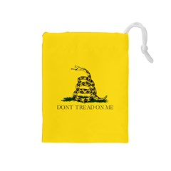Gadsden Flag Don t Tread On Me Drawstring Pouches (medium)  by MAGA
